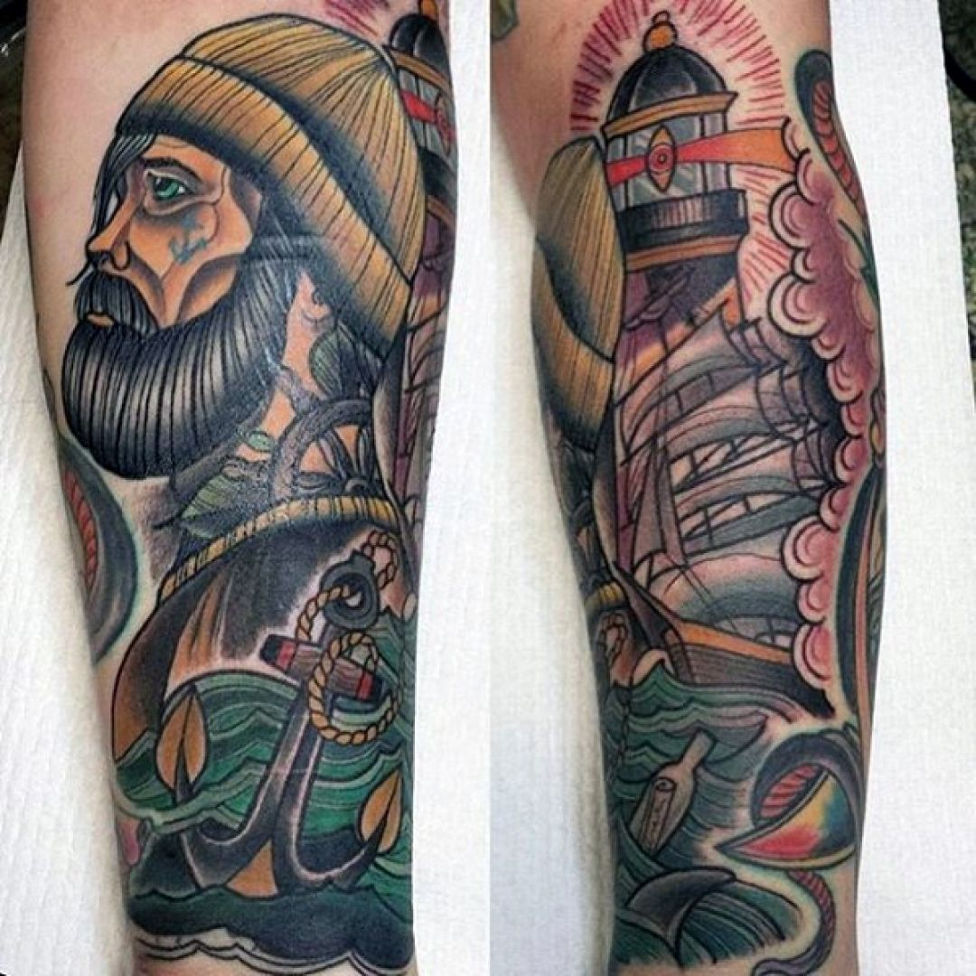 Sailor Nautical Ship Anchor Leg Tattoo Design (287999) - Best  Tattoos