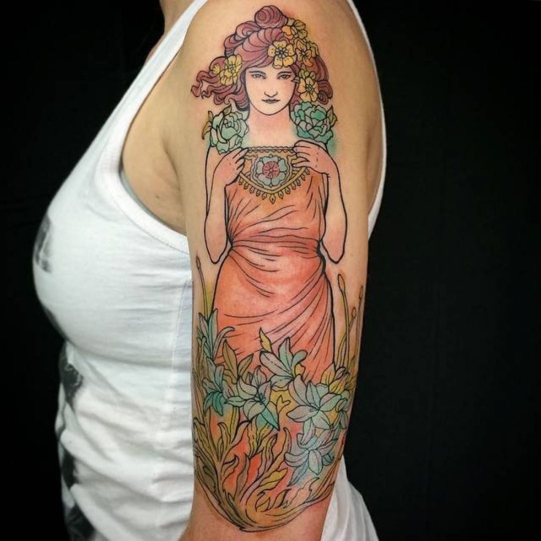 Shoulder Tattoo Design For Women (female) (295812) - Best  Tattoos