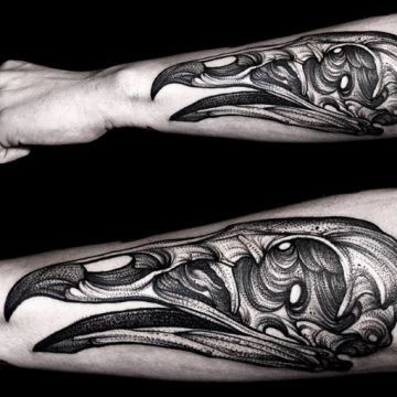 Animal Skull Hand Tattoo Design