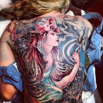 Back Tattoo Design For Women (female)