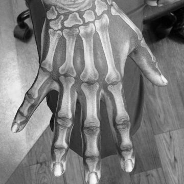 Bone Hand Tattoo Design