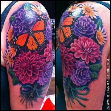 Butterfly Shoulder Tattoo Design