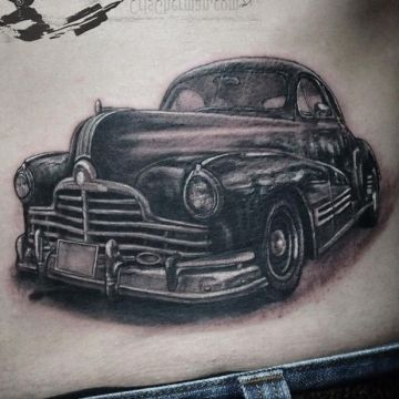 Car Ribs Tattoo Design