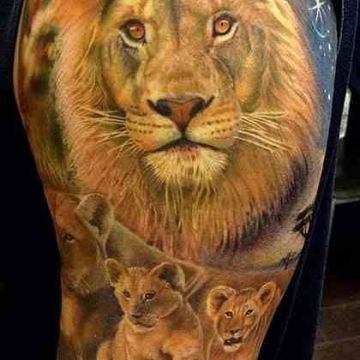 Family Sleeve Tattoo Design