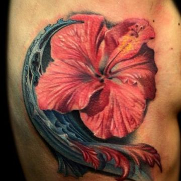 Flower Ribs Tattoo Design