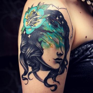 Shoulder Tattoo Design For Women (female)