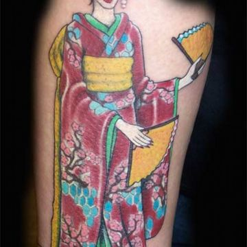 Geisha Forearm Tattoo Design For Women (female)