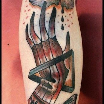 Hand, Arm Tattoo Design