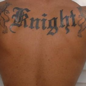 Knight Back Tattoo Design