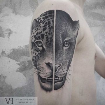 Leopard Panther Shoulder Tattoo Design