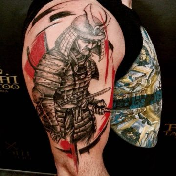 Samurai Arm Tattoo Design