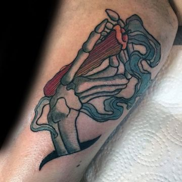 Skeleton Hand Tattoo Design