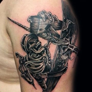 Skeleton Shoulder Tattoo Design