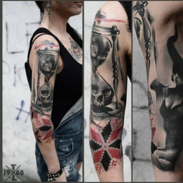 Sleeve Tattoo Design For Women (female)
