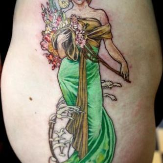 Thigh Tattoo Design For Women (female)