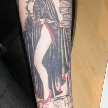 Vampire Forearm Tattoo Design For Women (female)