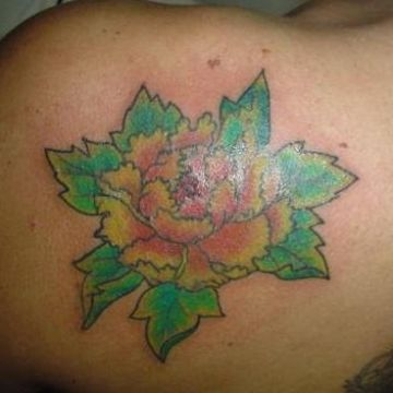 Yellow Flower Tattoo Design