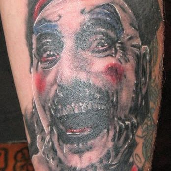 Zombie Clown Tattoo Design