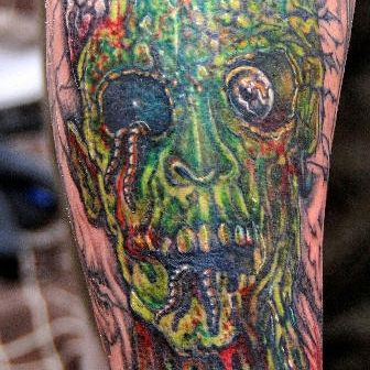 Zombie Head Tattoo Design