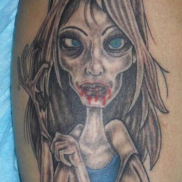 Zombie Nurse Tattoo Design
