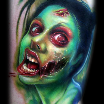 Zombie Tattoo Design For Women (female)
