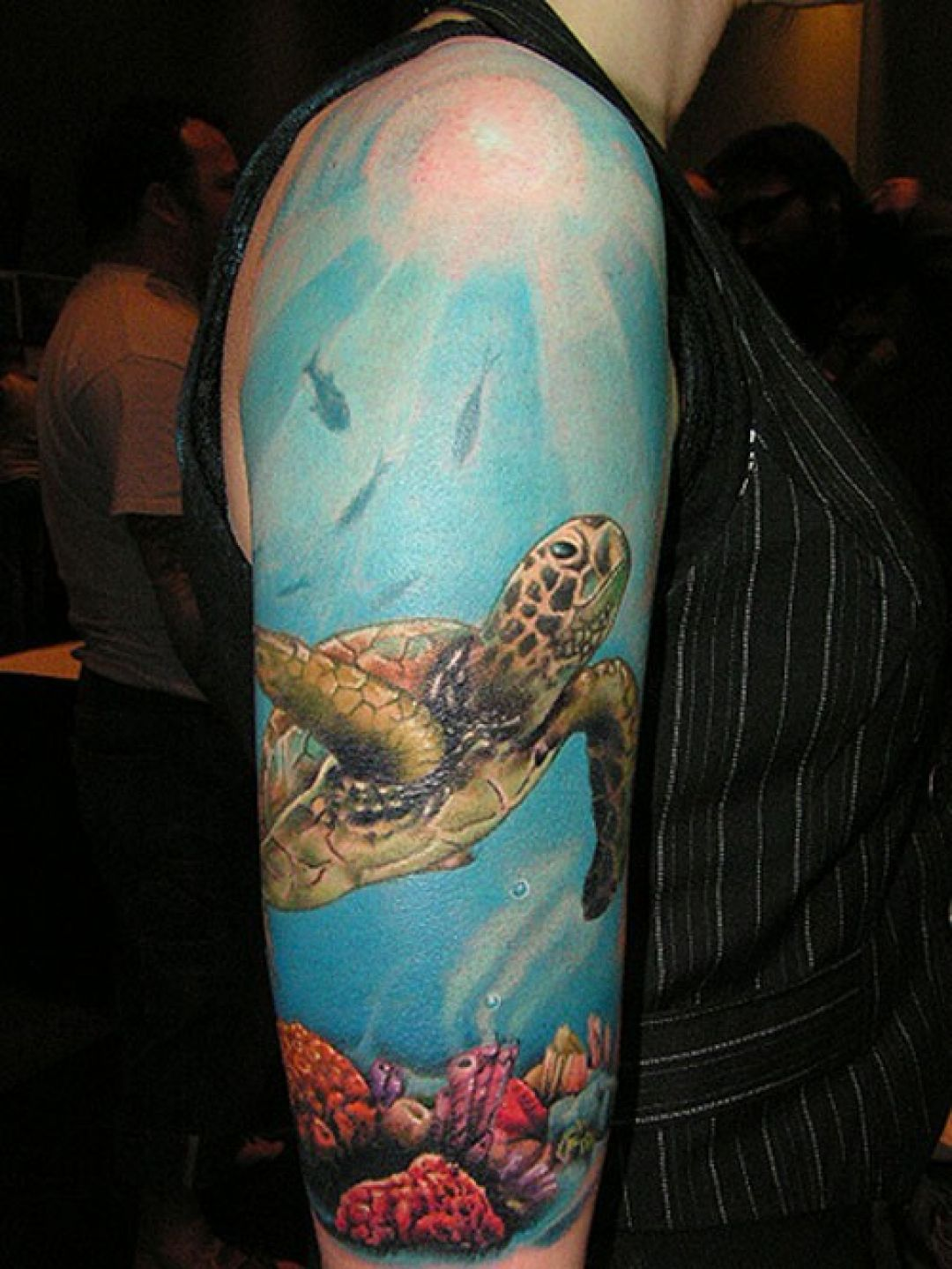 Turtle Sleeve Tattoo Design (240221) - Best  Tattoos