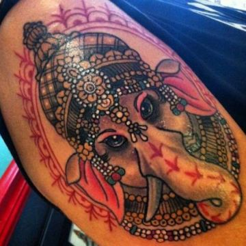 Indian Lovely Head Tattoo Design