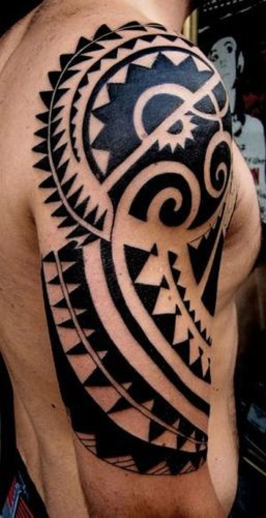 Ink Polynesian Sleeve Tattoo Design (239975) - Ink Tattoos