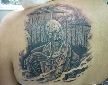 Ink Horror Zombie Shoulder Tattoo Design