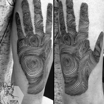 Ink Black Hand, Arm Tattoo Design