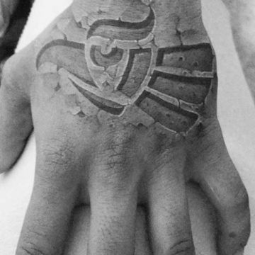 Ink Black Hand Tattoo Design
