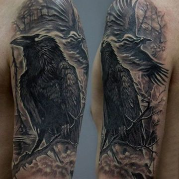 Ink Black Sleeve Tattoo Design