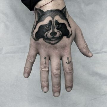 Ink Cute Black Hand Tattoo Design
