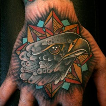 Ink Eagle Hand Tattoo Design