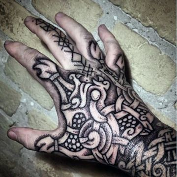 Ink Hand Tattoo Design
