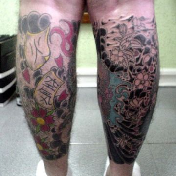 Pattern Leg Tattoo Design