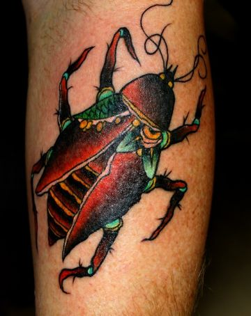 Realistic Bug Leg Tattoo Design