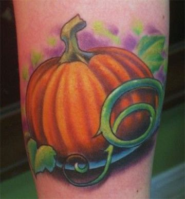 Realistic Orange Tattoo Design
