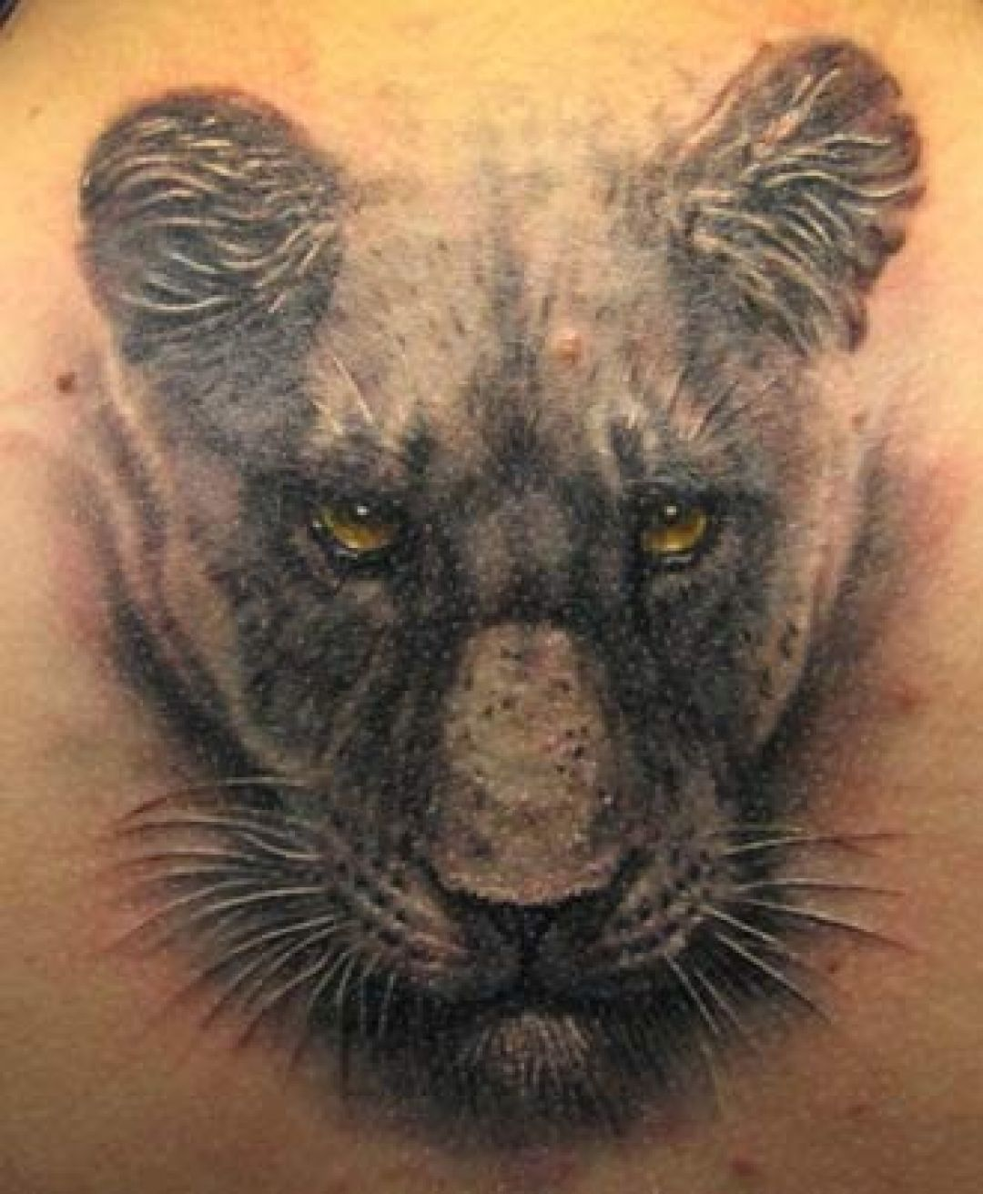 Realistic Black Panther Head Tattoo Design (284048) - Realistic Tattoos