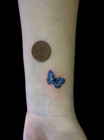 Simple Butterfly Tattoo Design For Women (female)