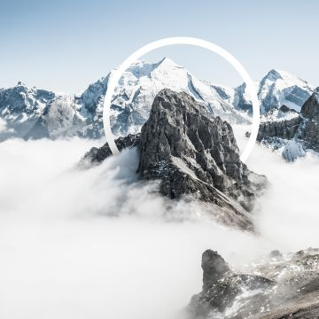 Snowy Mountains Abstract - Android / iPhone HD Wallpaper Background Download