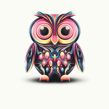 Coorful Minimal Owl IPhone Wallpaper IPhone Wallpaper - Android / iPhone HD Wallpaper Background Download