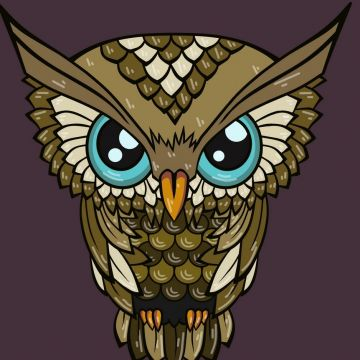 Download Wallpaper 938x1668 Owl, Minimalism, Art Iphone 8 7 6s 6 - Android / iPhone HD Wallpaper Background Download