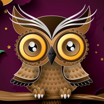 Owl Bird Art Wallpaper for iPhone - Android / iPhone HD Wallpaper Background Download