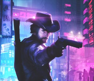 Cyberpunk Cowboy - Android, iPhone, Desktop HD Backgrounds / Wallpapers (1080p, 4k)