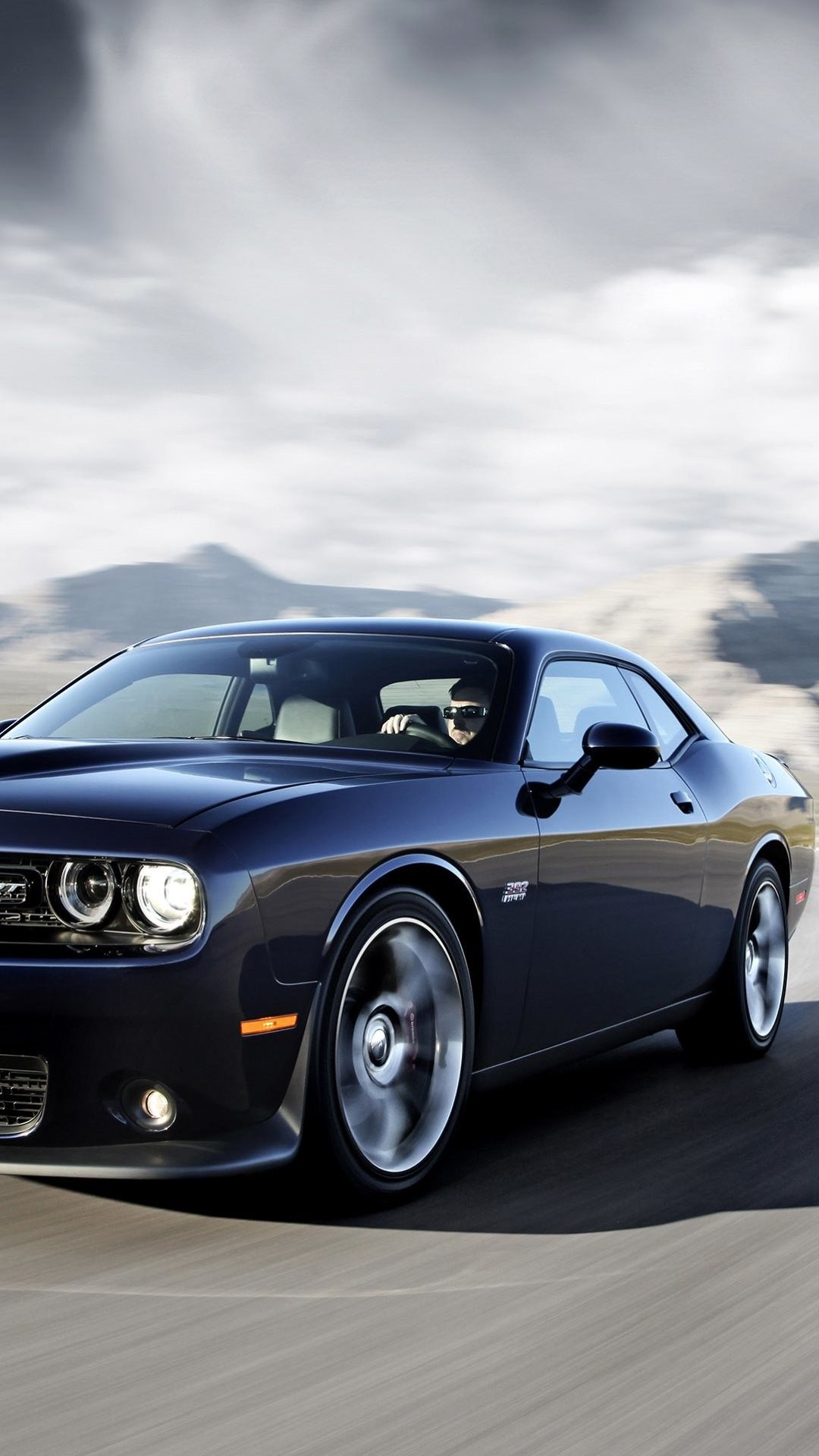 80 Dodge Challenger Black Hellcat Android Iphone Desktop