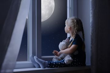 Little Girl Sadly Out Of A Window With A Teddy Bear - Android / iPhone HD Wallpaper Background Download