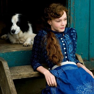 Dog Actress Dress Blue Dress Long Hair Carey Mulligan Animals Women - Android / iPhone HD Wallpaper Background Download