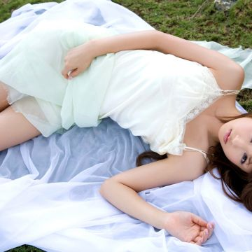 Yuko Ogura Asian Japanese Women Women Model White Dress - Android / iPhone HD Wallpaper Background Download