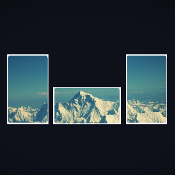 Mountains Collage Simple Background Minimalism Nature - Android / iPhone HD Wallpaper Background Download